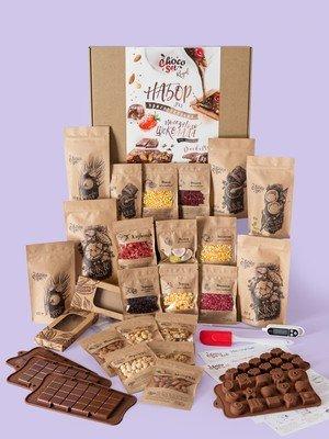 1 кг Набор для приготовления темного и молочного шоколада ChocoSet ROYAL